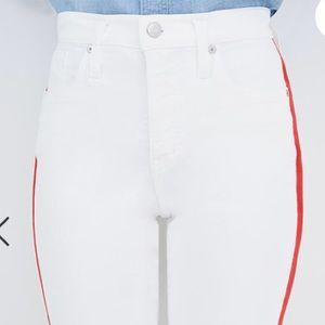 Madewell Jeans - NWT Madewell Tuxedo Stripe High Rise White Denim
